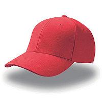 Бейсболка PILOT, 6 клиньев, металлическая застежка, Красный, -, 25418.08