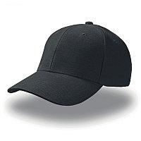 Бейсболка PILOT, 6 клиньев, металлическая застежка, Черный, -, 25418.35