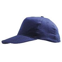 Бейсболка детская SUNNY KIDS, 5 клиньев, застежка на липучке     , Темно-синий, -, 788111.319