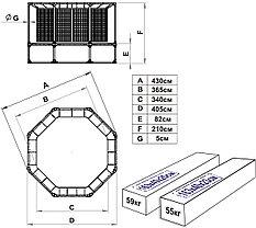 Батут Leco-IT Outdoor Plus с ограждением диам. 420 см, фото 2