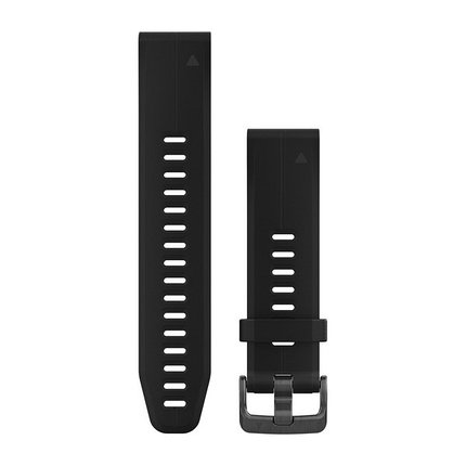 Ремешок для GPS часов Garmin Fenix 5S/6S силикон черный, фото 2