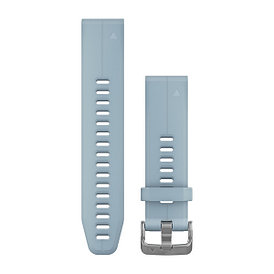 Ремешок для GPS часов Garmin Fenix 5S/6S силикон голубой