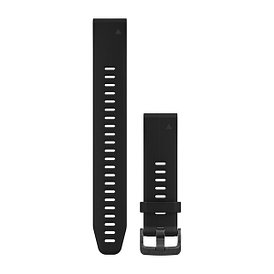 Ремешок для GPS часов Garmin Fenix 5S/6S силикон черный длинный