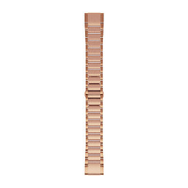 Ремешок для GPS часов Garmin Fenix 5S/6S сталь розовое золото