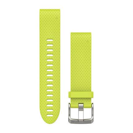 Ремешок для GPS часов Garmin Fenix 5S/6S силикон желтый, фото 2