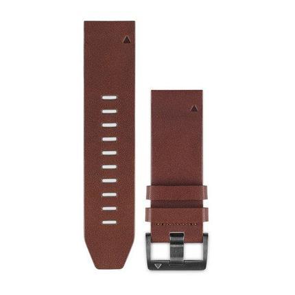 Ремешок для GPS часов Garmin Fenix 5/6 кожа коричневый, фото 2