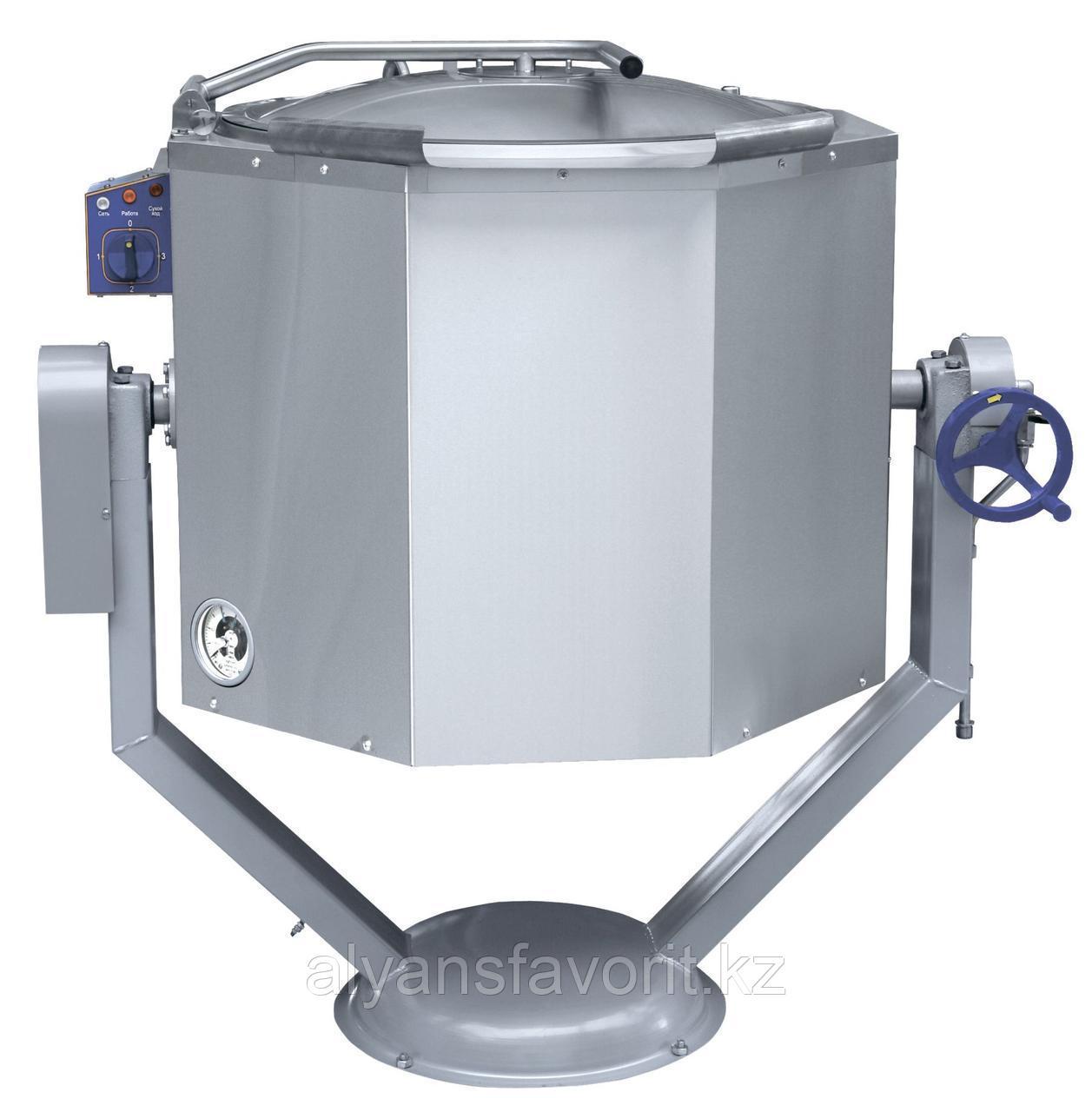 Котел пищеварочный ABAT КПЭМ-100 ОР опрокидываемый с ручным приводом