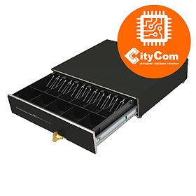 Денежный ящик для купюр и монет MERCURY CD-490 cash drawer black, металлические крепления. Кассовый. Арт.5229