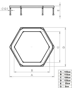 Батут Leco-IT Home Домашний диам. 135 см., фото 2