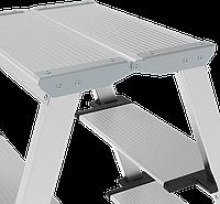Стремянки 2-х сторонние алюминиевые, широкая ступень 130 мм NV100