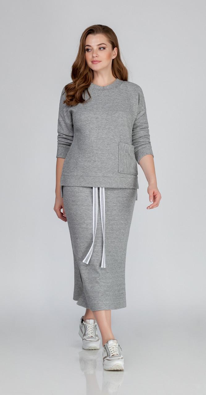 Костюм Anna Majewska-1259 Molde, серый, 52