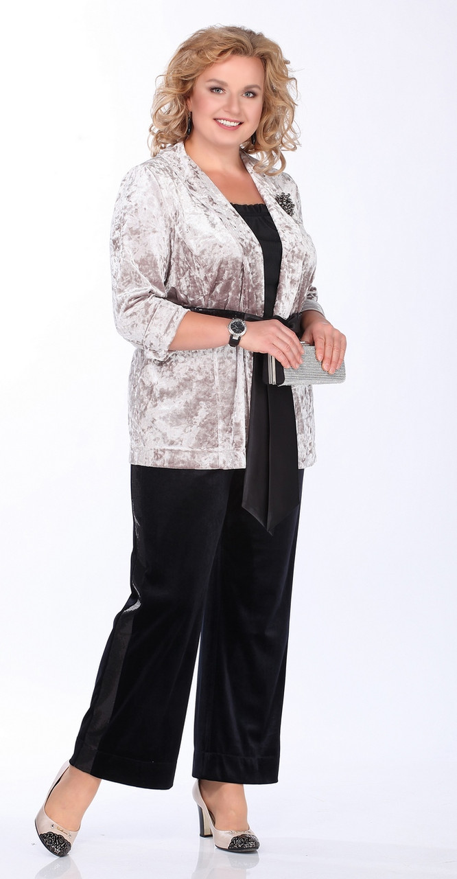 Костюм Lady Secret-2661, серебро с черным, 50