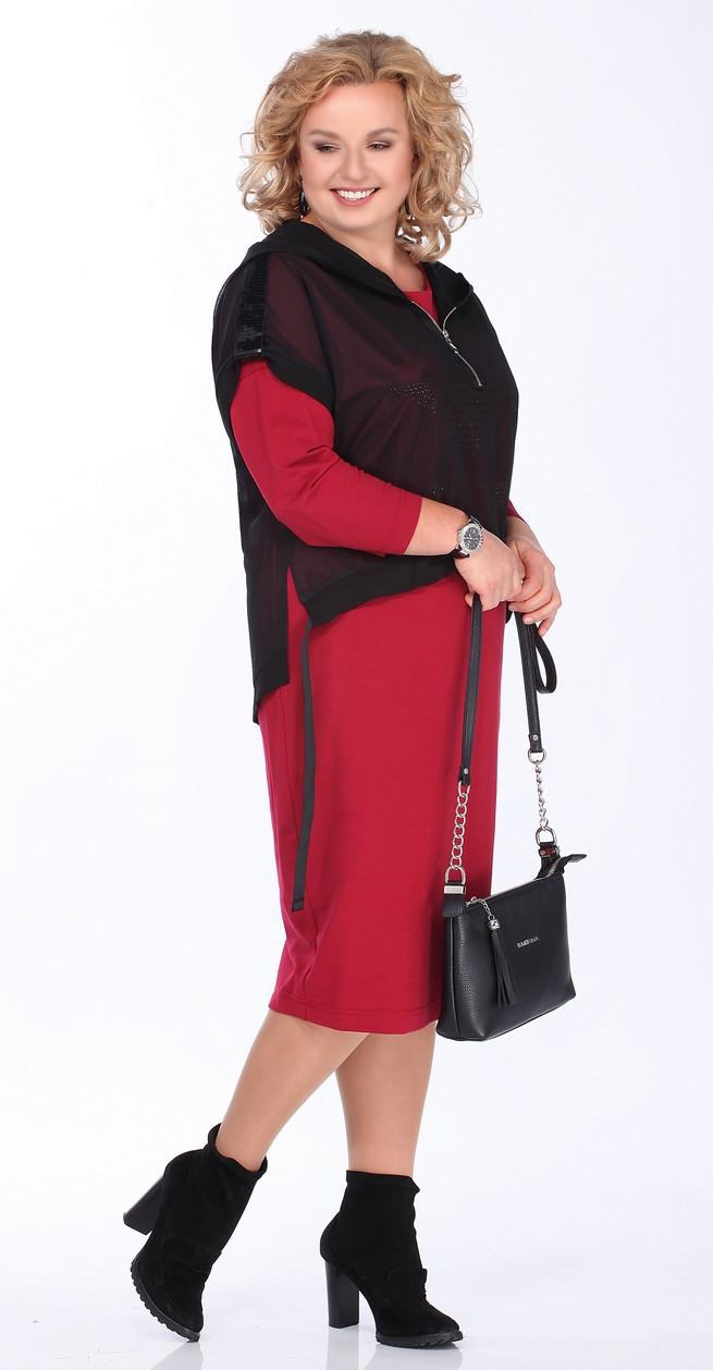 Костюм Lady Secret-3623, красный с черным, 52