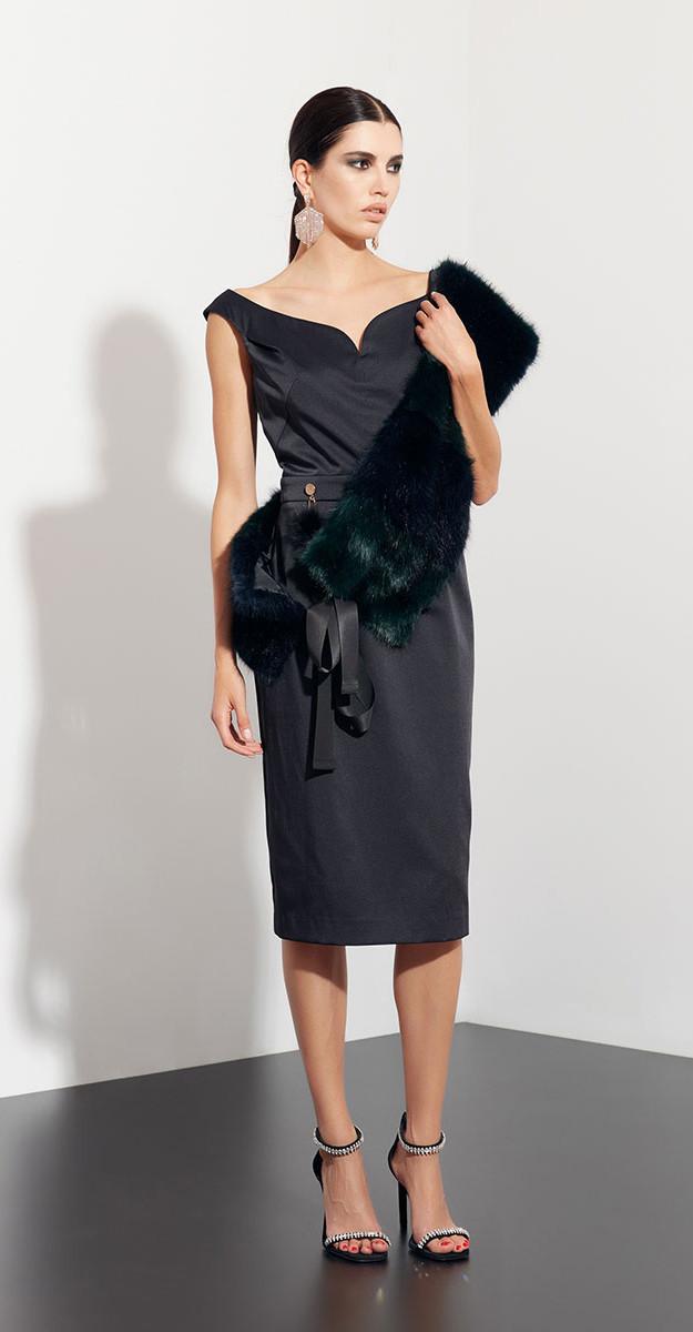Платье Favorini-21746, черный, 42