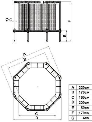 Батут диам. 210 см с ограждением Starter, фото 2