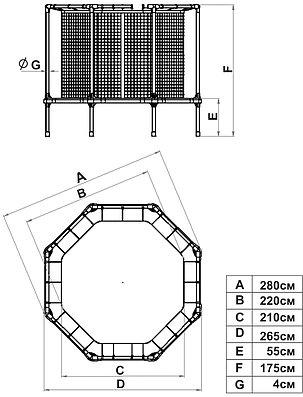 Батут диам. 270 см с ограждением Starter, фото 2