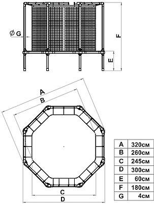 Батут диам. 310 см с ограждением Starter, фото 2