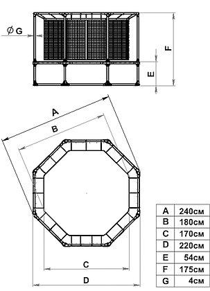 Батут Leco-IT Outdoor с ограждением диам. 230 см, фото 2