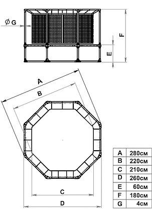 Батут Leco-IT Outdoor с ограждением диам. 270 см, фото 2