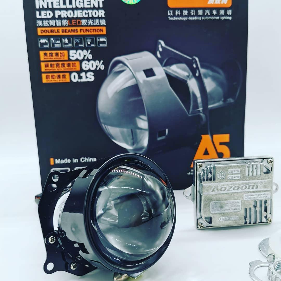 """Светодиодные линзы Bi-led AOZOOM A5 2.5"""" 5500K"""