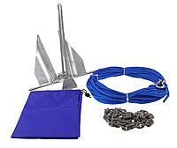 Якорь Дэнфорта 2.7 кг с цепью 1,2 м и веревкой 30 м в сумке A2397BL