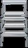 Стремянка двухсторонняя, комбинированная стальная NV 100, 3 ступени, фото 3