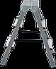 Стремянка двухсторонняя, комбинированная стальная NV 100, 3 ступени, фото 2