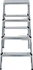 Стремянка двухсторонняя, комбинированная стальная NV 100, 4 ступени, фото 3
