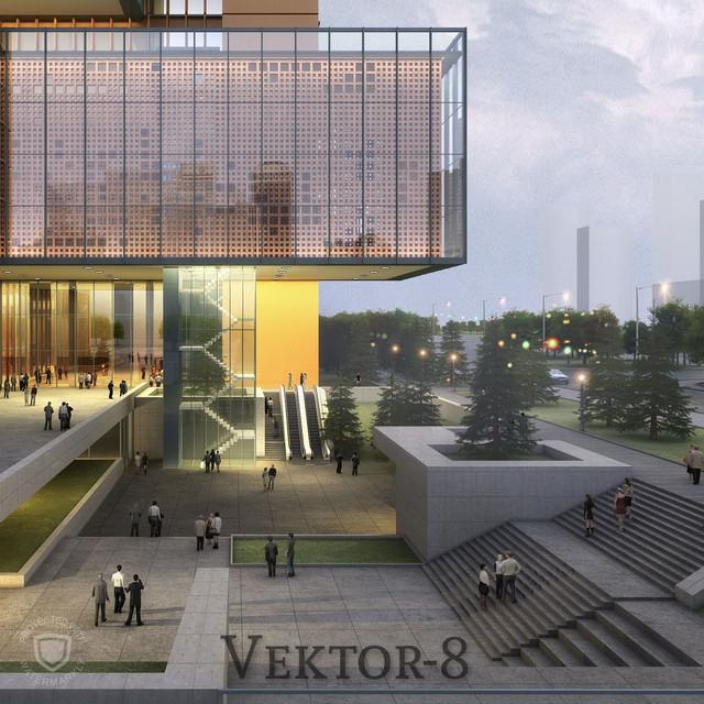 Тонировка фасадов зданий в Алматы 13
