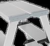 Стремянка двухсторонняя алюминиевая, широкая ступень 130 мм NV100, 3 ступени, фото 2