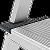 Стремянка двухсторонняя алюминиевая, широкая ступень 130 мм NV100, 5 ступеней, фото 2