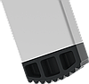 Стремянка двухсторонняя алюминиевая, широкая ступень 130 мм NV100, 5 ступеней, фото 4