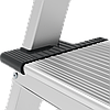 Стремянка двухсторонняя алюминиевая, широкая ступень 130 мм NV100, 6 ступеней, фото 3