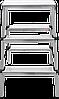Стремянка двухсторонняя алюминиевая NV100, 3 ступени, фото 2