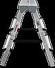 Стремянка двухсторонняя алюминиевая NV100, 4 ступени, фото 2