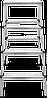 Стремянка двухсторонняя алюминиевая NV100, 4 ступени, фото 3