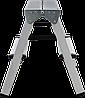 Стремянка двухсторонняя алюминиевая NV100, 4 ступени, фото 4
