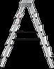 Стремянка двухсторонняя алюминиевая NV200,  5 ступеней, фото 3