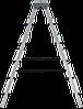 Стремянка двухсторонняя алюминиевая NV200,  6 ступеней, фото 3