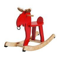 ЭКОРРЭ Лось-качалка, красный, каучуковое дерево ИКЕА, IKEA