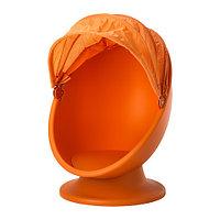 Кресло вращающееся ИКЕА ПС ЛЁМСК оранжевый  IKEA