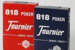 Карты игральные Fournier 818 Jumbo index premium cards. 55 карт, красная\синяя, фото 1