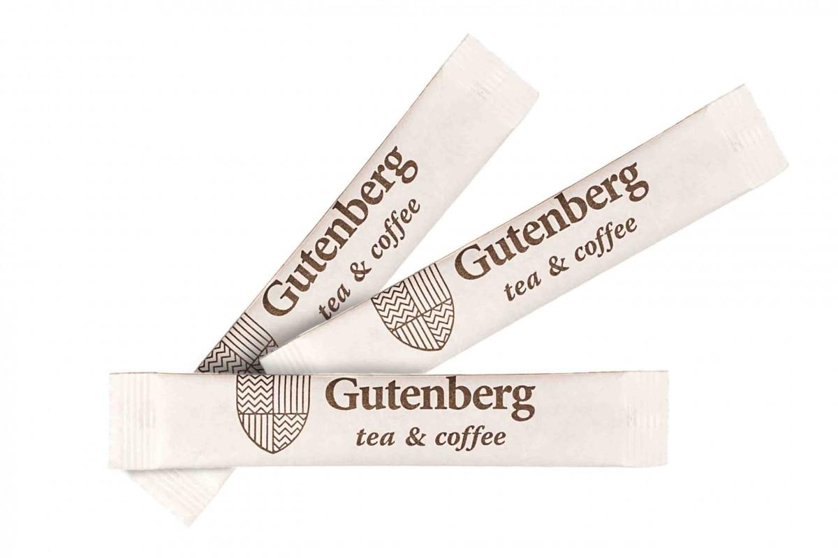 Сахар порционный тростниковый в стике Gutenberg (фасовка по 5 г) (1000 гр)