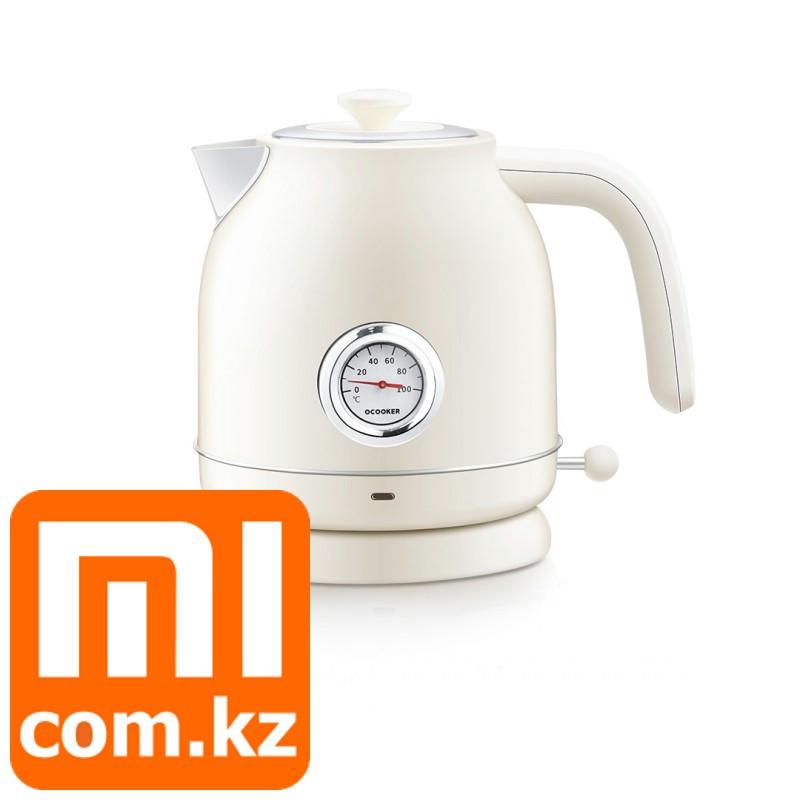 Ретро-чайник с температурным датчиком Xiaomi Mi Qcooker Electric Kettle. Оригинал.