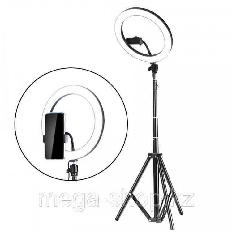 Кольцевая лампа 32 см на штативе с зажимом для телефона