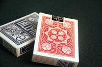 Карты игральные Tally-Ho Fan back №9 Linoid Finish 54 листа, красные