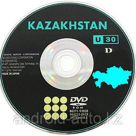 GEN-4 DVD NAVIGATION MAP of KAZAKHSTAN - (DENSO) TOYOTA SEQUOIA 2000-2006