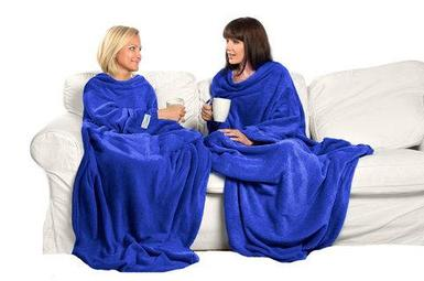 Одеяло/плед/халат с рукавами Снагги Бланкет {Snuggie Blanket} (Синий)