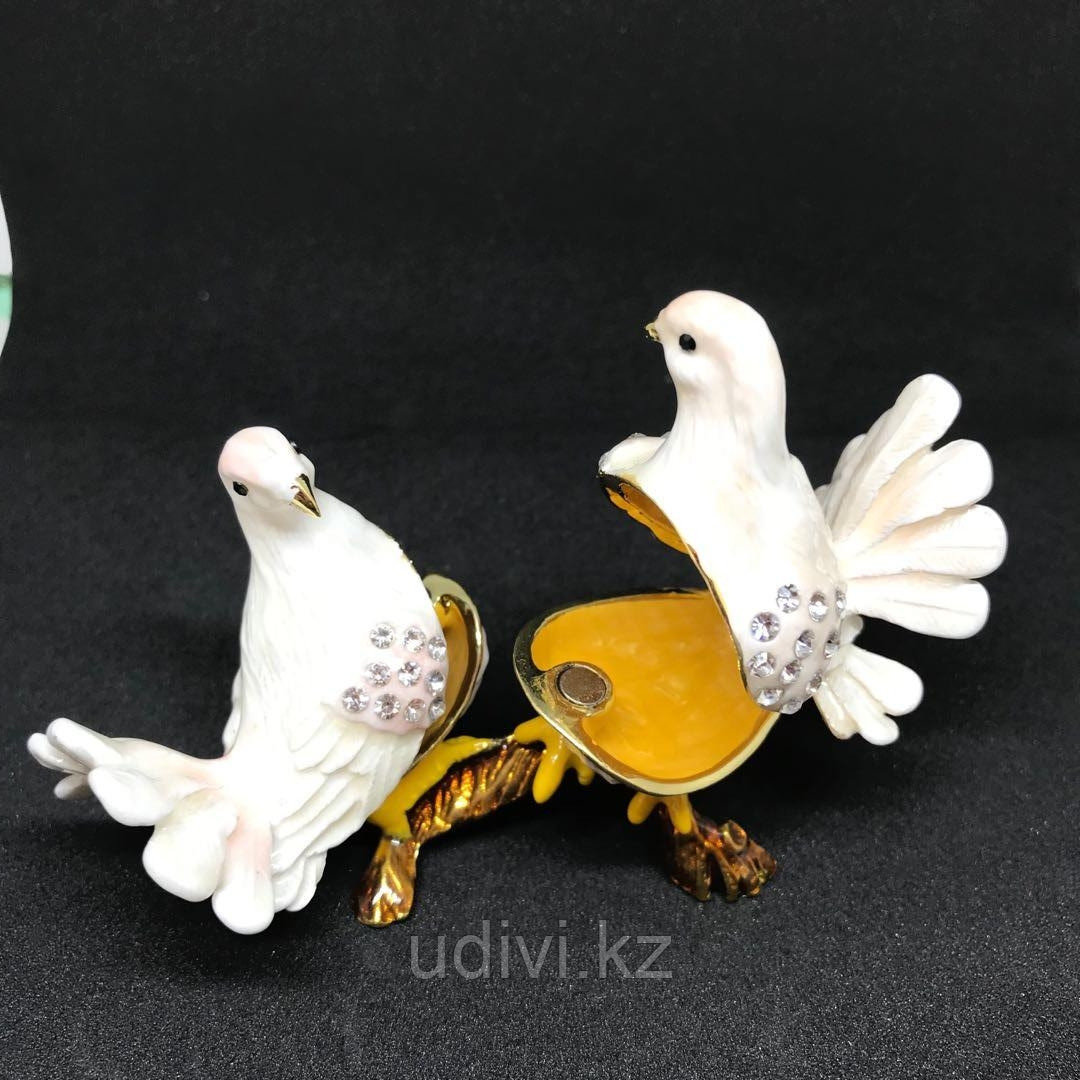 Мини шкатулка Два голубка