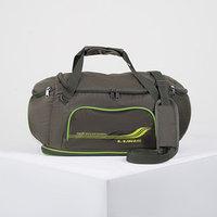 Сумка спортивная, отдел на молнии, 3 наружных кармана, длинный ремень, цвет хаки